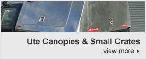 Ute canopies & small crates